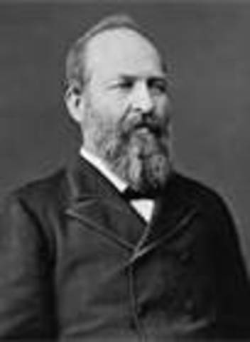 March 4, 1881 – James Garfield takes office as POTUS
