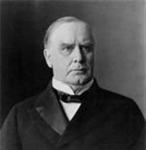 William McKinley takes office as POTUS