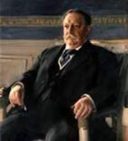 William Howard Taft takes office as POTUS