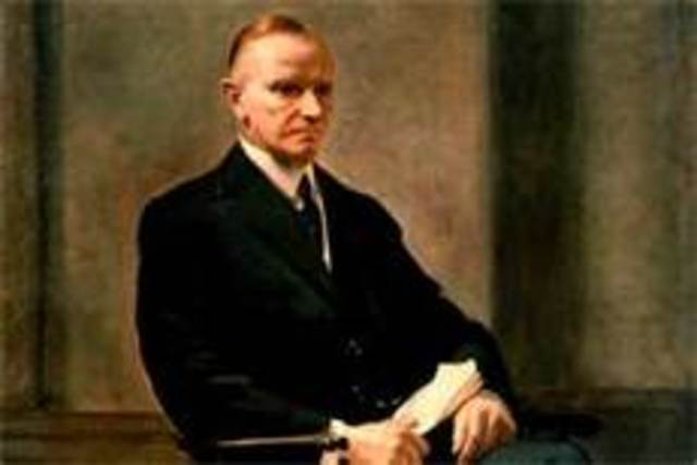 Calvin Coolidge takes office as POTUS
