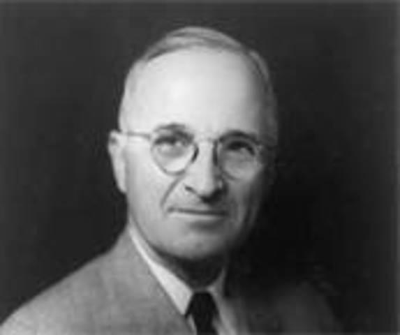 Harry S Truman takes office as POTUS
