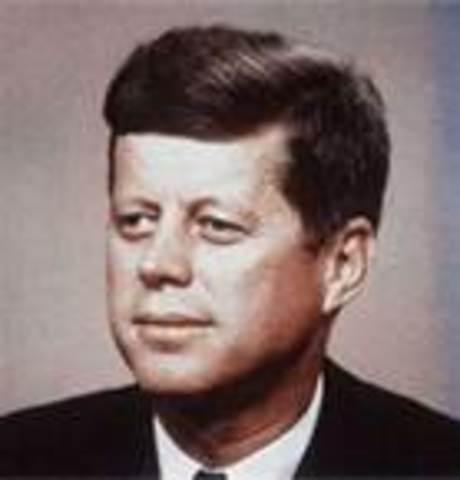 John Fitzgerald Kennedy takes office as POTUS