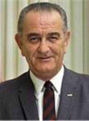 Lyndon B. Johnson takes office as POTUS