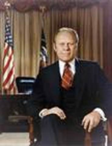 Gerald Ford takes office as POTUS