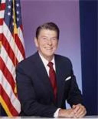 Ronald Reagan takes office as POTUS