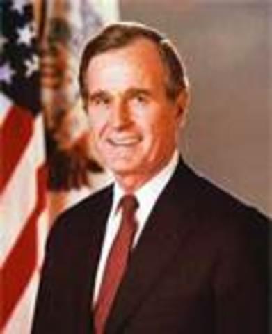 George H. W. Bush takes office as POTUS