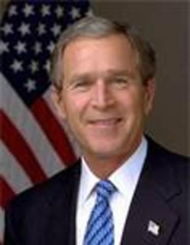 George W. Bush takes office as POTUS