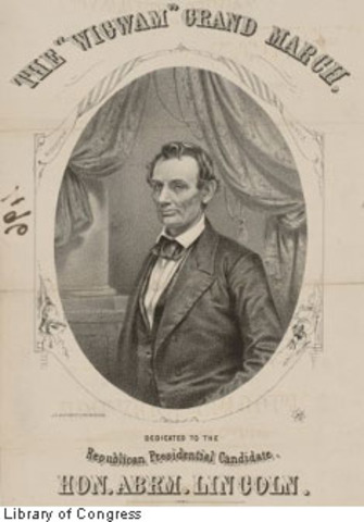 Lincoln is nominated for President of United States