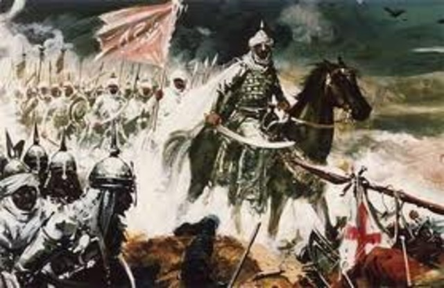 Inicia conquista de la península Ibérica