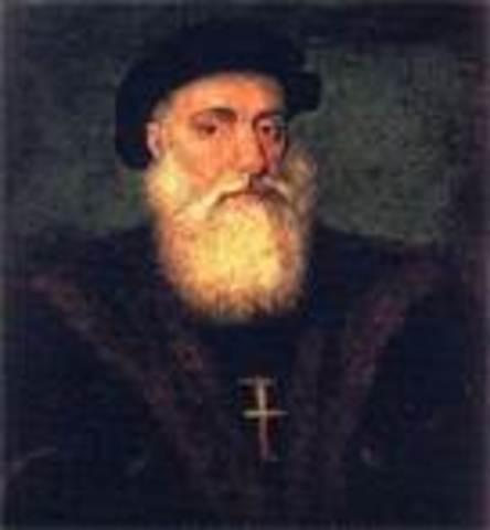 Vasco da Gama sails around southern tip of Africa to India