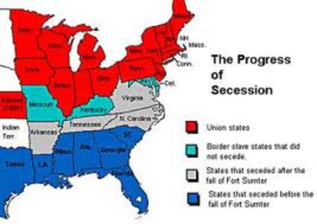 South Carolina secedes from the Union.