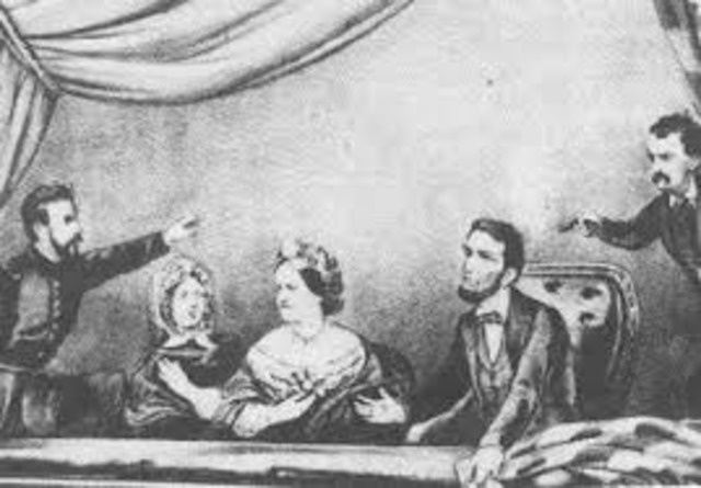 Abraham Lincoln is shot at Ford's Theatre
