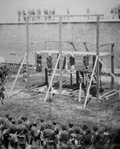 Lincoln assassination conspirators hanged