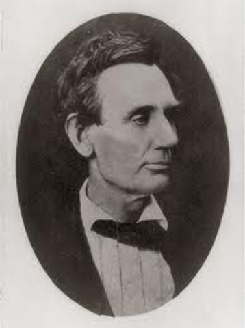 Lincoln takes his seat in Congress