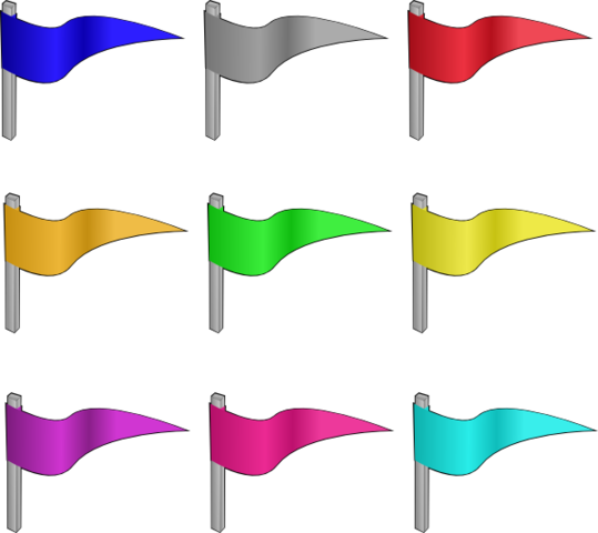 Byzantine ship captains use colored flags to send signals to one another across the water.