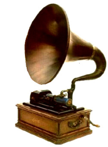 Thomas Edison invents the phonograph a device to record sound on a wax cylinder