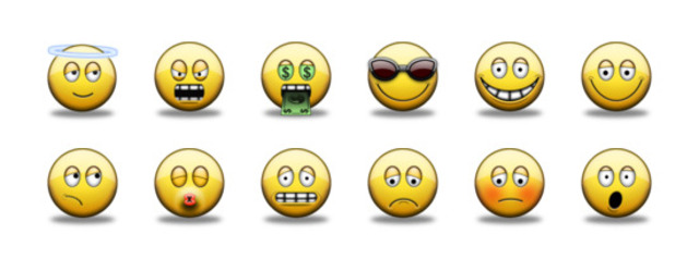 The first emoticon is used in an E-mail message