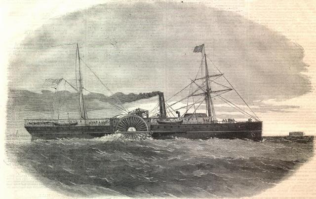 Southern Ships Attack Northern Supply Ship