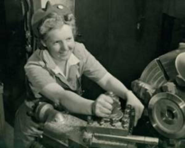 Women Take Factory Jobs