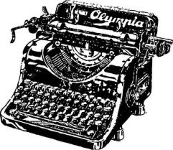 First practical modern typewriter invented by C. Sholes