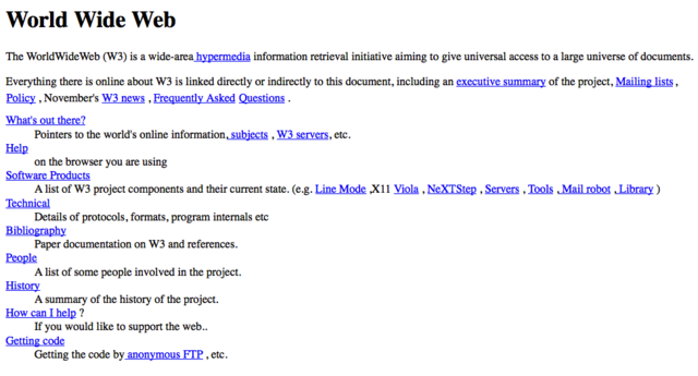 First web page created 1991