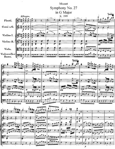 Symphony in G, No. 27