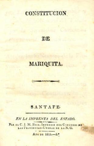 CONSTITUCION DEL ESTADO DE MARIQUITA
