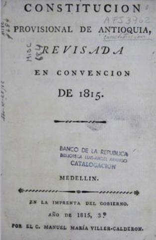 CONSTITUCION PROVINCIAL DE ANTIOQUIA