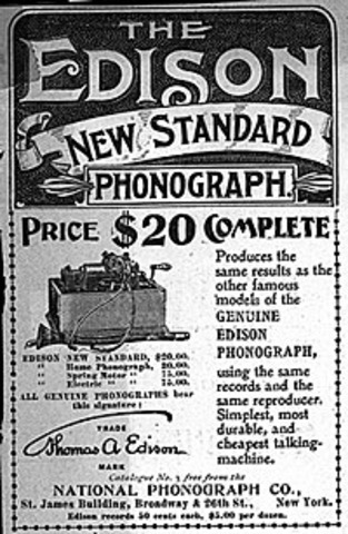 Edison increases entertainment for his phonograph