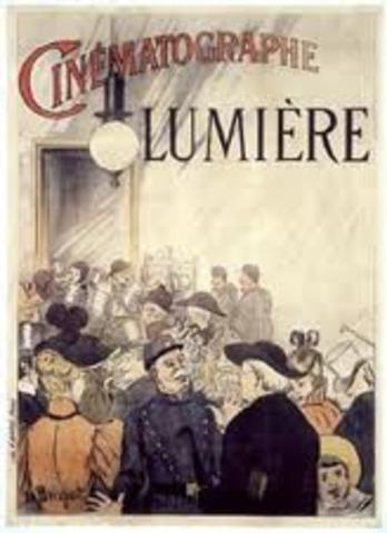 The Lumiere Brothers have the first public film screening