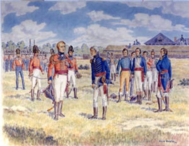 Tecumseh helps Brock in winning Battle of Detroit in War of 1812