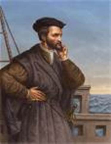 Jacques Cartier explores the St. Lawrence River for France