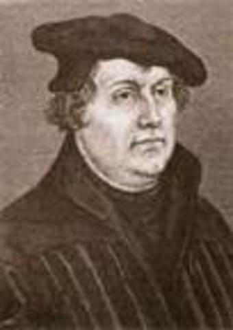 German monk, Martin Luther, challenges Catholic Church