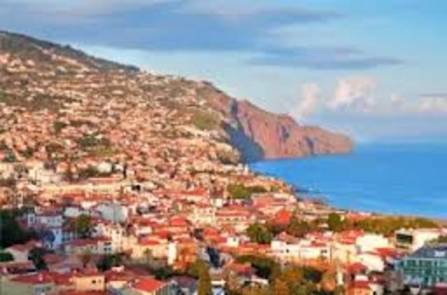 Desembarque na Madeira.