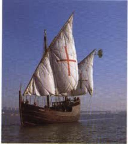 Gil Eanes e Afonso Gonçalves Baldaia descobriram a Angra dos Ruivos e chegaram à Costa do Ouro.