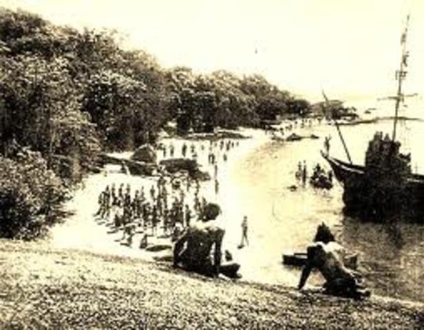 Nuno Tristão penetra no Golfo de Arguim.