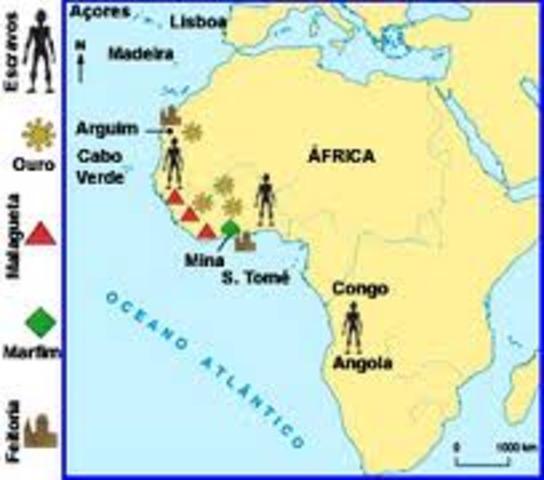Descoberta das primeiras ilhas do arquipélago de Cabo Verde pelo navegador Luís Cadamosto, um veneziano ao serviço do Infante.