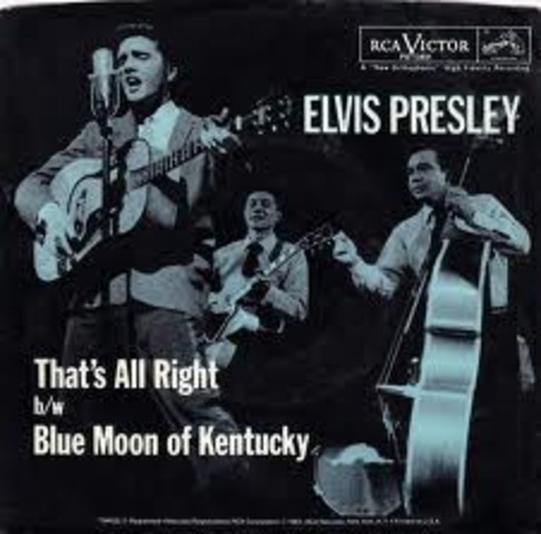 Elvis Presley records first song