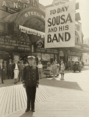 Began touring with the Sousa Band