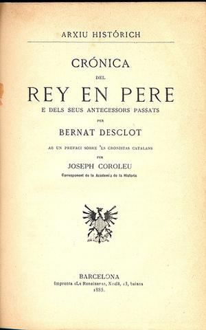 Crònica de Bernat Desclot (1283-12188)