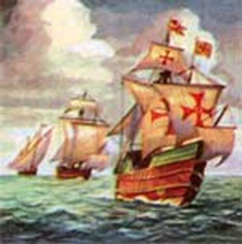 Columbus sails for India
