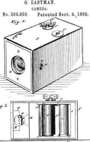 George Eastman introduced the first hand held box camera