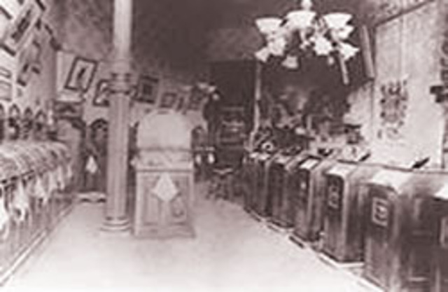 First Kinetiscope Parlor opened in New York