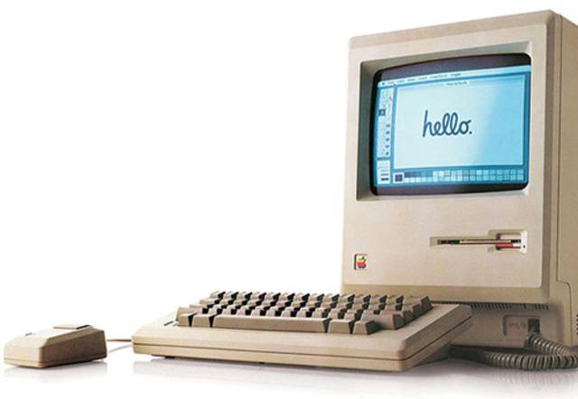 El lanzamiento oficial del ordenador Macintosh.