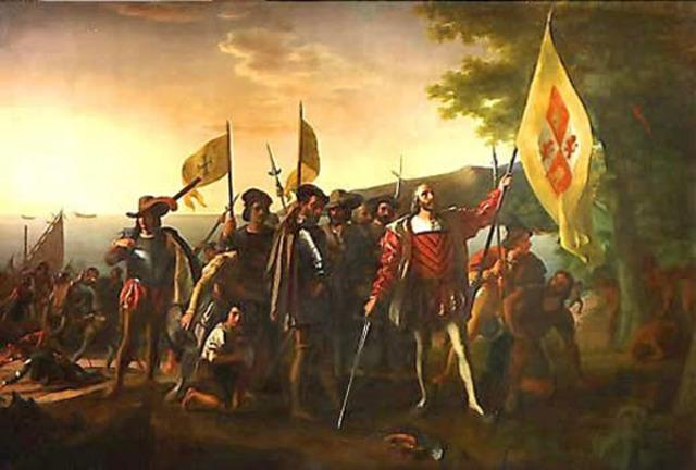 Columbus reaches San Salvador