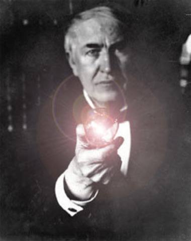 Thomas Edison delivers the electricity to power and illuminate the world!