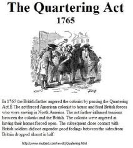 Quartering act of 1770