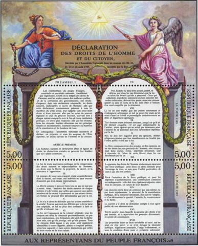 Declaración de los Derechos del hombre y ciudadano.