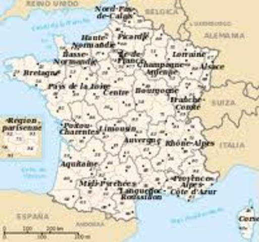Reorganización territorial de Francia