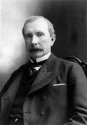 John D. Rockefeller Dominates the Oil Industry